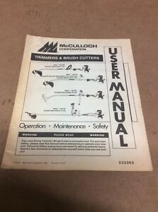mcculloch eager beaver trimmers brush cutters user manual ebay rh ebay com McCulloch Gas Trimmer Weed Eater Parts