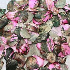 100 Pink Camo Rose Petals - Flower Girl Petals - Camo Wedding - Country Wedding