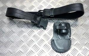 Originale-Mod-Militare-Police-pelle-Nera-Cintura-Pwl-con-Manette-Sacchetto