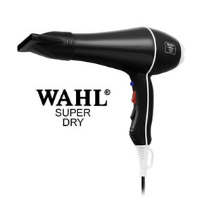 BLACK-Wahl-Super-Dry-2000W-Professional-Salon-Hair-Dryer-Tourmal-Ionic-2-Nozzles