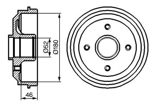 1C 1991-2015 Mk2 vetech arrière tambour de frein-diamètre 180mm Peugeot 106 Mk2; 1A