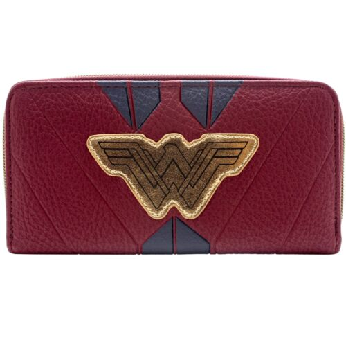 NEW OFFICIAL DC WONDER WOMAN RED WARRIOR SUIT COIN /& CARD CLUTCH PURSE