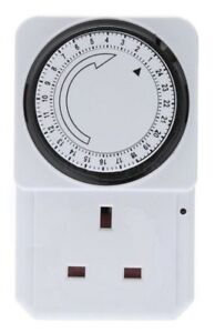 24-HOUR-ELECTRICAL-PLUG-IN-TIMER-SWITCH-LOCK-SOCKET-24HR-TIMER-3-PIN-ADAPTER