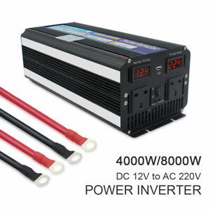 Details About 4000w 8000w Peak Power Inverter Dc 12v To Ac 230v Caravan Converter Camping Uk