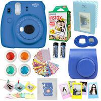 Fujifilm Mini 9 Instant Camera Cobalt Blue + 20 Film All In One Acc Bundle