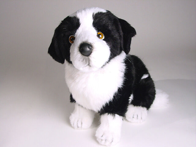 Border Collie Puppy by Piutre, Hand Made in , Plush Stuffed Animal NWT
