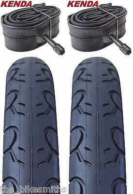 """2x KENDA KWest Tyre 26/"""" 26x1.5/"""" MTB Semi-Slick K193 40-65PSI BLACK"""
