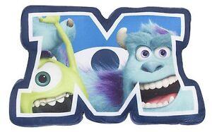 Disney-Pixar-Monsters-Inc-University-Sulley-amp-Mike-Shaped-Plush-Cushion-NEW