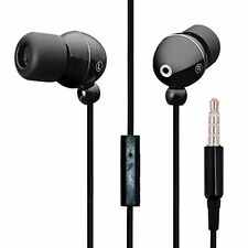 In-Ear Headset Kopfhörer Mic Headphones Earphones Ohrhörer schwarz Bass Beats