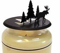 Village Wrought Iron Moose-pine Candle Jar Topper C-ld-22 Jar Topper