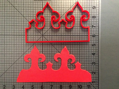 Crown Repeating Pattern Cookie Cutter