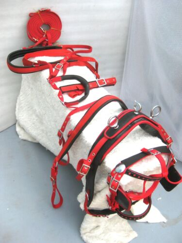 NYLON DRIVING HARNESS Red /& BLACK FOR SINGLE HORSE