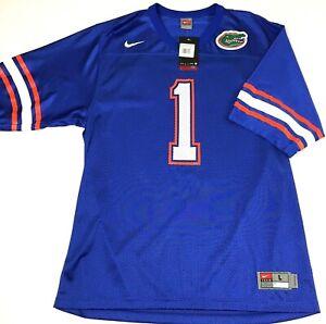 NWT-Nike-Team-Mens-Large-Blue-Orange-Florida-Gators-1-Football-Jersey-Shirt-60