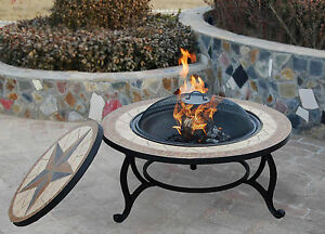 Image Is Loading THE SALTILLO Garden Fire Pit Amp BBQ Mosaic