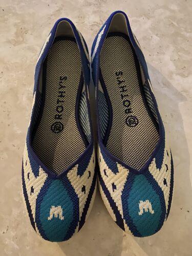 Rothys Moroccan Blue Sz 8