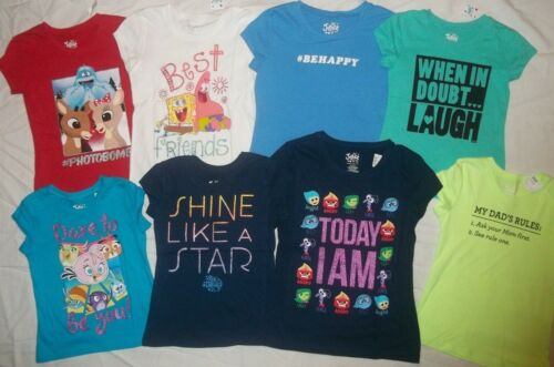 NEW JUSTICE GIRLS SIZE 5 7 8 10 12 T-SHIRT//TOP CHOOSE FAVORITE ONE FROM 9 STYLE