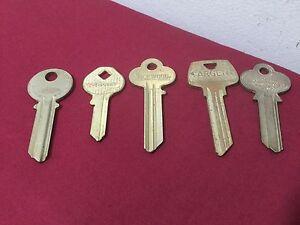 Assorted Original Key Blanks, Sargent, Lockwood, Chantrel, Set of 5 - Locksmith