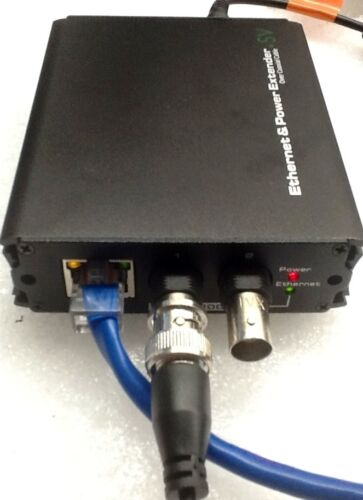 coax to ethernet ip camera Ethernet  Over  Coax  converter 12 vdc out
