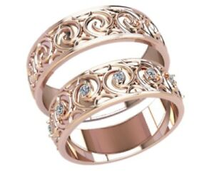 5 Pairs Of Wedding Band Wax Patterns For Lost Wax Casting