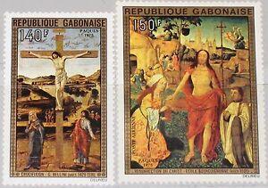 GABON-GABUN-1975-554-55-C160-61-Easter-Ostern-Religion-Paintings-Gemaelde-Art-MNH