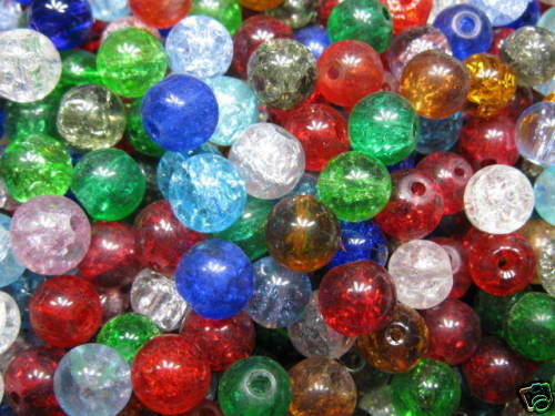 25 Crash-perles 8mm mix couleurs perles NEUF 5806