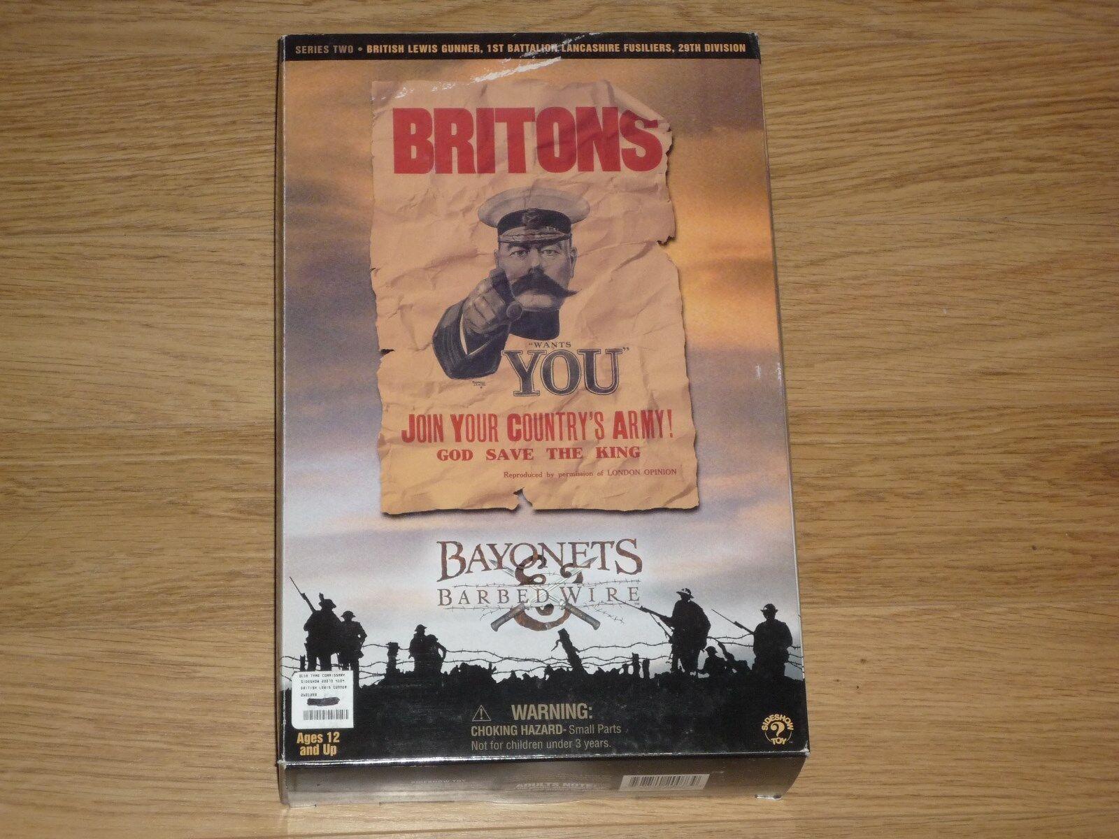 DID BBI DRAGON SIDESHOW BAYONETS BARBED WIRE BRITISH LEWIS GUNNER WW1 1914