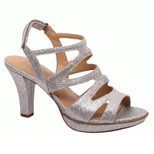 72d75165999 Women Naturalizer DIANNA E5554S6903 Silver Glitter Sticking Strap Pump Shoes