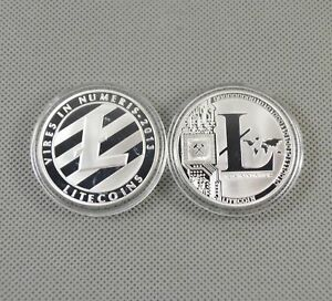 Silver-Plated-Commemorative-Litecoin-Collectible-Golden-Iron-Miner-Coin-Gift