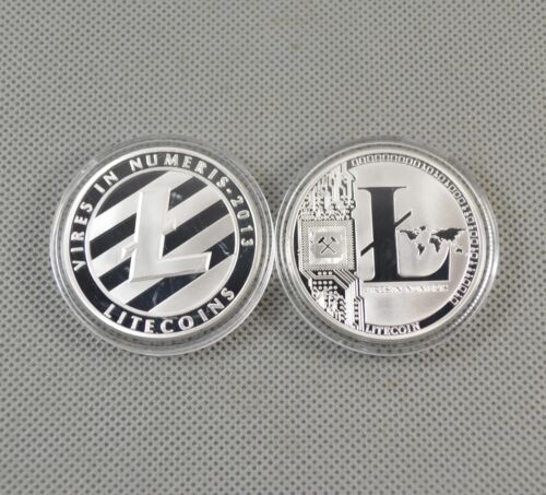 6Pcs Silver/&Gold Plated Bitcoin//Litecoin//Ethereum Collectible Coins Gift New