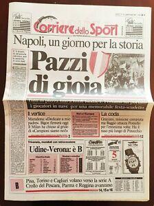 CORRIERE-DELLO-SPORT-30-04-1990-NAPOLI-VINCE-IL-2-SCUDETTO-MARADONA-4-APRILE