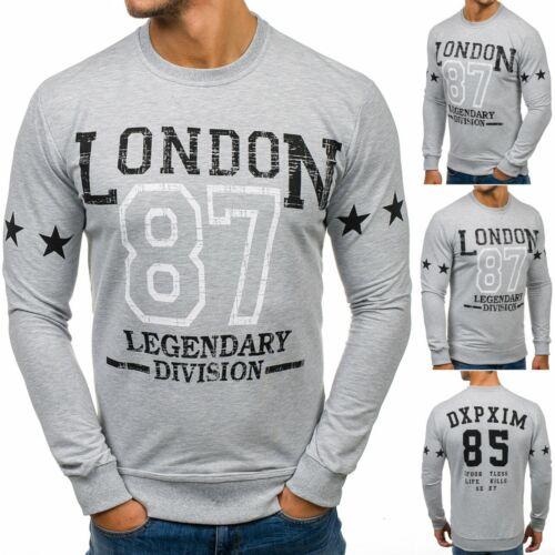 Sweatshirt Langarmshirt Pullover Rundhals Pulli Men Print Herren BOLF 1A1 Motiv