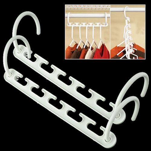 8//4//2//1 Magic Hanger Rack Closet Space Saver Smart Organizer Clothes Hooks CB2D