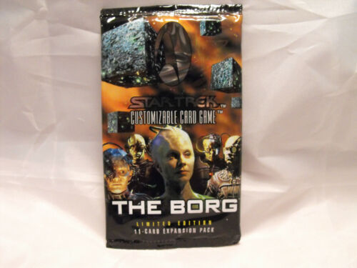 STAR TREK CCG THE BORG SEALED BOOSTER PACK OF 11 CARDS