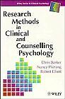Research Methods in Clinical and Counselling Psychology (Wiley Series in Clin.