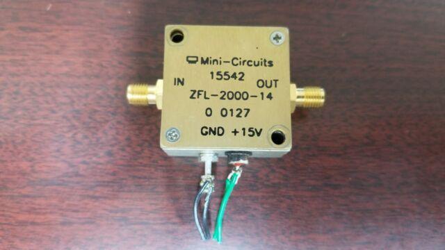 mini circuits zfl 2000 14 2ghz microwave amplifier for sale online ebay. Black Bedroom Furniture Sets. Home Design Ideas