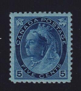 Canada Sc #79 (1899) 5c blue in bluish paper Numeral Mint VF NH MNH