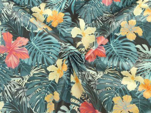 Stoffe Panamabindung Digitaldruck Deko Möbelstoff Gardine Blumen Muster Floral