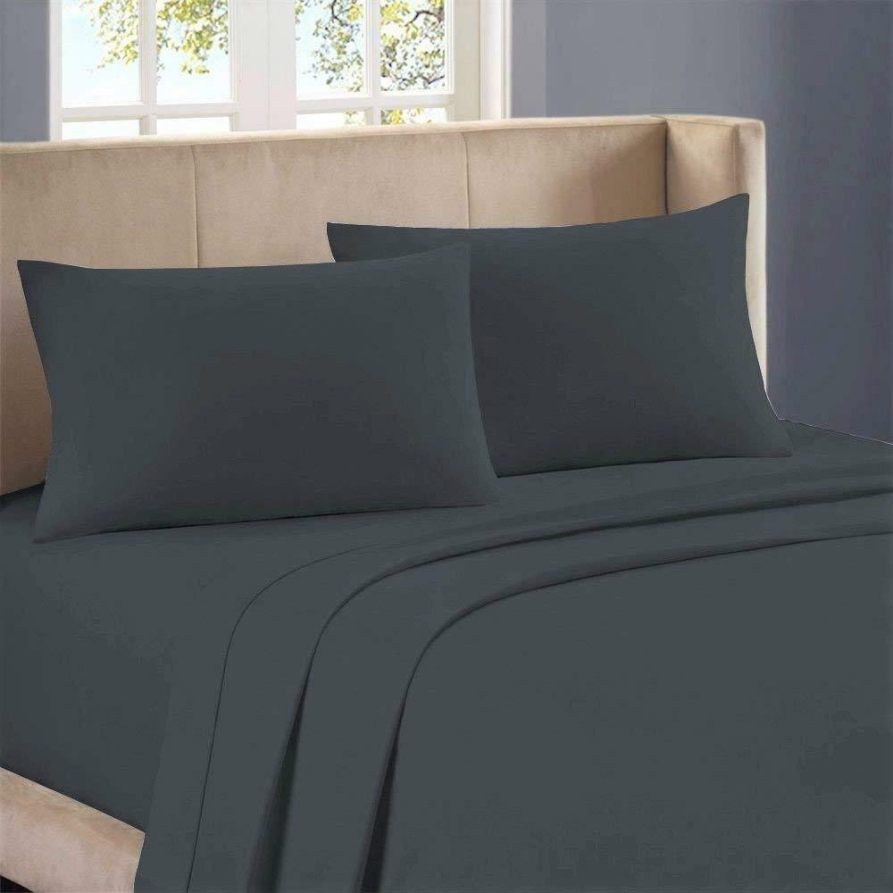 BEDDING ITEMS 1000 THREAD COUNT EGYPTIAN COTTON USA-SIZES ELEPHANT GREY SOLID