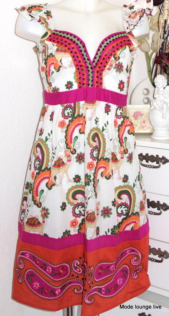 pinklita Mc Gee Kleid dress white red pink Trigo Vestido Kamel camel Tiermuster