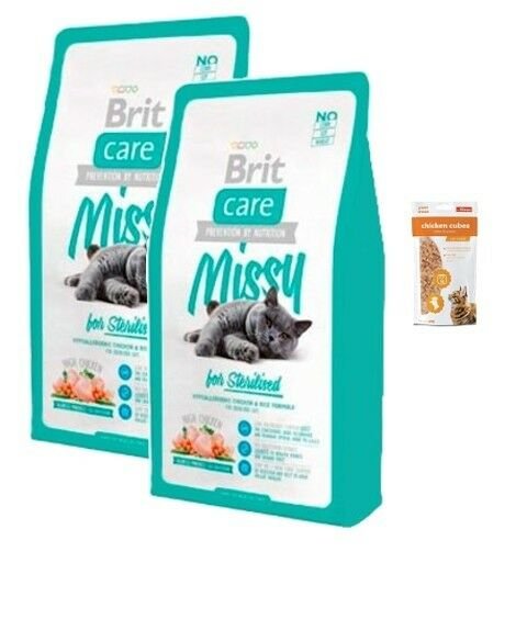 2x7kg Brit Care Cat  Missy Sterilised Super-Premium + 85g Frischebeutel