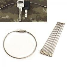 10PCS  Tool Hiking Wire Keychain Stainless Steel Cable Key Ring