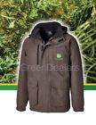 John Deere Dickies Adults Brown Herringbone Coat Jacket - all sizes S M L XL XXL