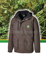 John Deere Dickies Adults Brown Herringbone Coat Jacket - All Sizes S M L Xl Xxl