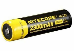 Nitecore 18650 Rechargeable Li-Ion Battery - 2300mAh