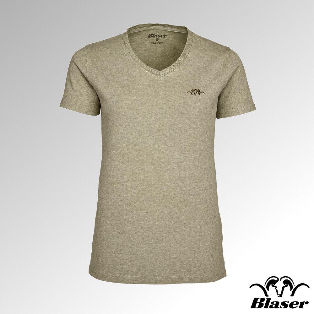 FUCILI TIRO T-shirt donna donna donna collo a V beige melange (118020-006 243) 8f47f7