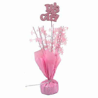 IT'S A GIRL BABY SHOWER PARTY PINK TABLE DECORATION CENTREPIECE BALLOON WEIGHT