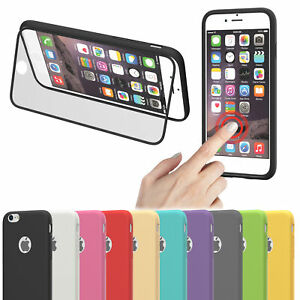Fuer-Apple-iPhone-Silikon-Huelle-Full-Cover-Case-Schutzhuelle-Handy-Tasche-Bumper