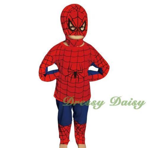 Spiderman Superhero Fancy Costumes Halloween Party Kid Boy Size 2 3 4 5 6 #005