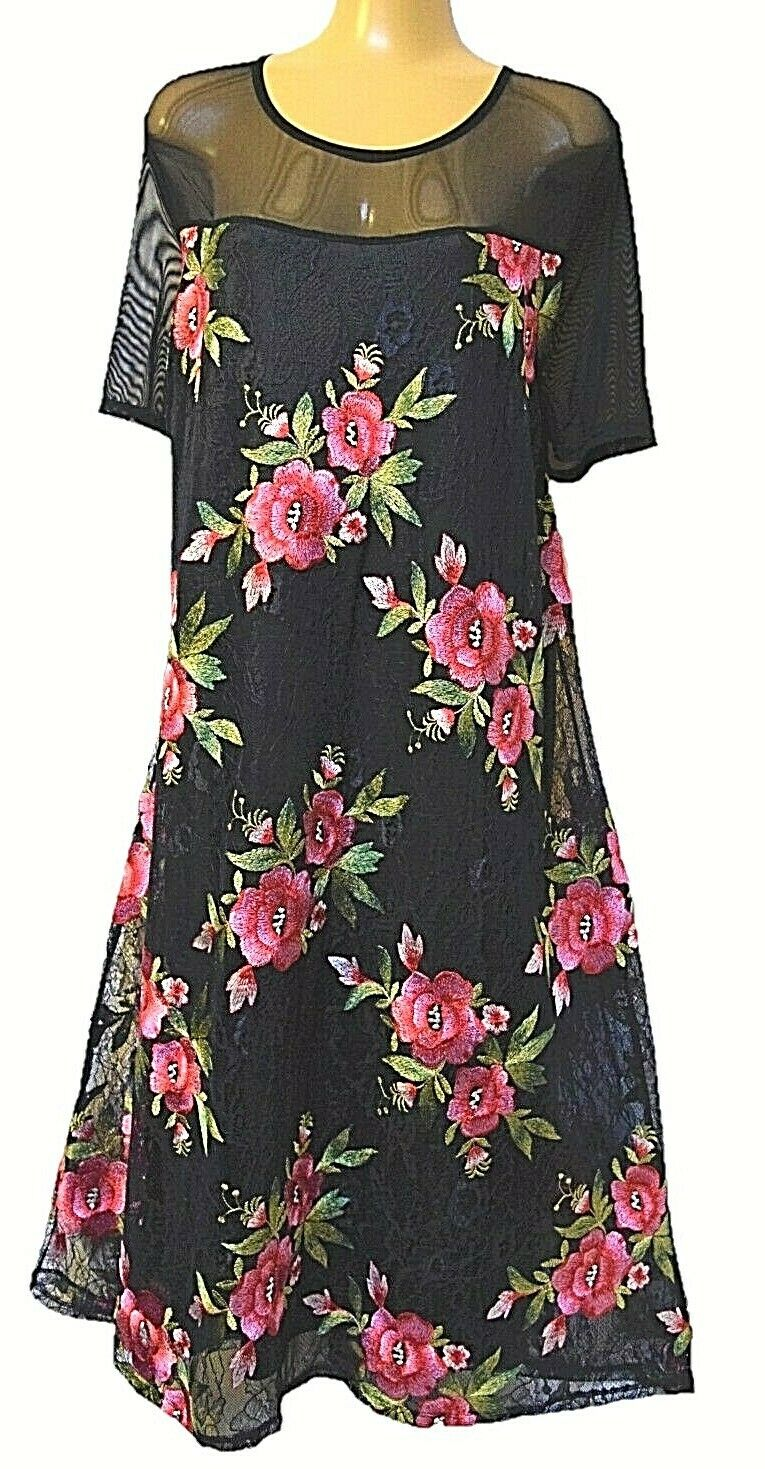 TS dress TAKING SHAPE plus sz XS   14 Steel Magnolia embroiderot sexy NWT rp