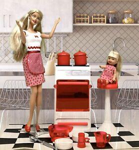 2001-Barbie-amp-Kelly-Fun-Treats-Playset-Mattel-55579